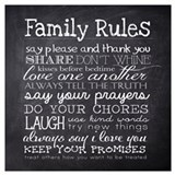 House rules Framed Prints