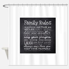 Funny Family Shower Curtain