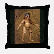 Burmese Boy Doll & Coral Throw Pillow