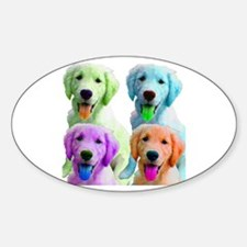 Golden Retriever Warhol Oval Decal