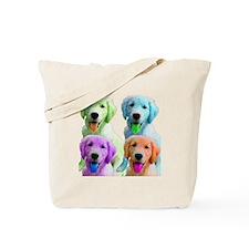 Golden Retriever Warhol Tote Bag
