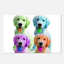 Golden Retriever Warhol Postcards (Package of 8)