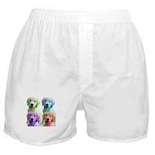 Golden Retriever Warhol Boxer Shorts