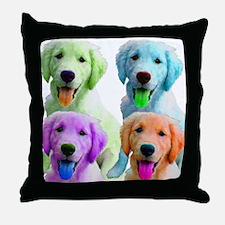 Golden Retriever Warhol Throw Pillow