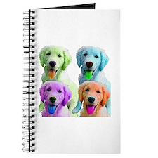 Golden Retriever Warhol Journal