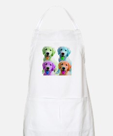 Golden Retriever Warhol BBQ Apron