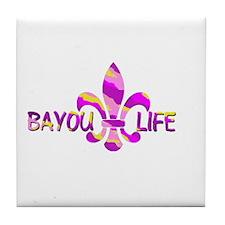 BAYOU LIFE Tiger Stripe Camo Tile Coaster
