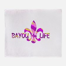 BAYOU LIFE Tiger Stripe Camo Throw Blanket