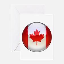 Canada Flag Jewel Greeting Card