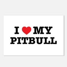 I Heart My Pitbull Postcards (package Of 8)