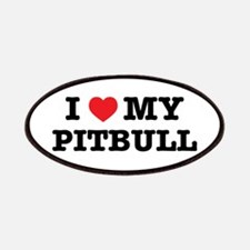 I Heart My Pitbull Patch