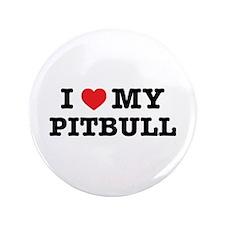 "I Heart My Pitbull 3.5"" Button (100 pack)"