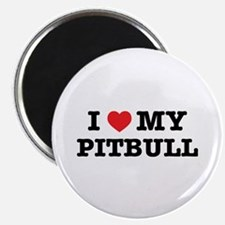I Heart My Pitbull Magnets