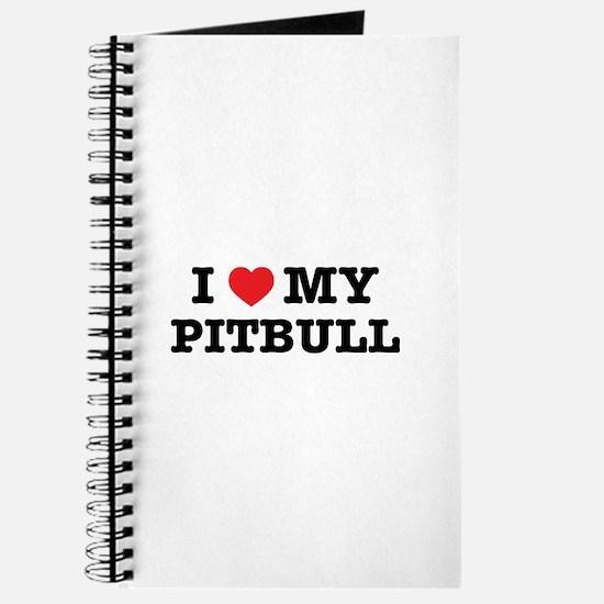 I Heart My Pitbull Journal