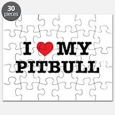 I Heart My Pitbull Puzzle