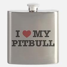 I Heart My Pitbull Flask