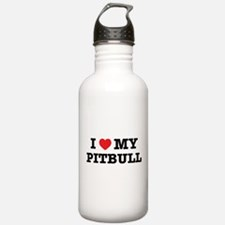 I Heart My Pitbull Water Bottle