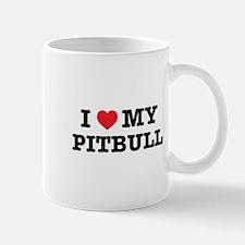 I Heart My Pitbull Mugs