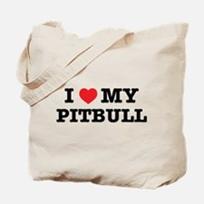 I Heart My Pitbull Tote Bag