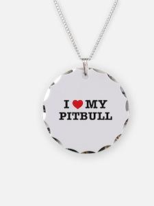 I Heart My Pitbull Necklace