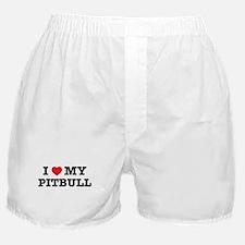 I Heart My Pitbull Boxer Shorts