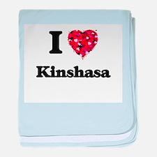 I love Kinshasa Democratic Republic o baby blanket