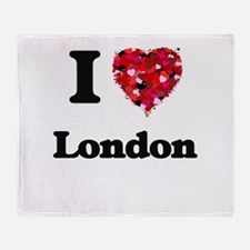 I love London United Kingdom Throw Blanket