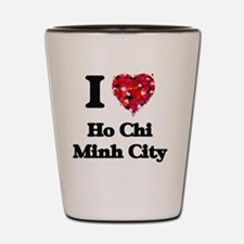 I love Ho Chi Minh City Vietnam Shot Glass