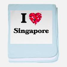 I love Singapore Singapore baby blanket