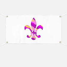 Fleur de lis Tiger Stripe Banner