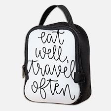 Eat Well, Travel Often Neoprene Lunch Bag