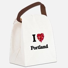 I love Portland Oregon Canvas Lunch Bag