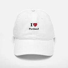 I love Portland Oregon Baseball Baseball Cap