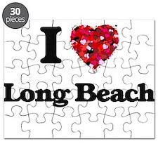 I love Long Beach California Puzzle
