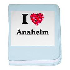 I love Anaheim California baby blanket