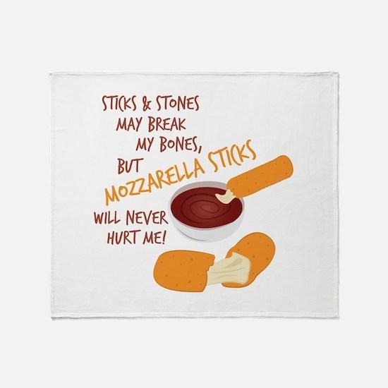 Mozzarella Sticks Throw Blanket