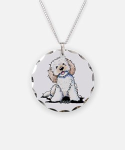 Smiling Doodle Puppy Necklace