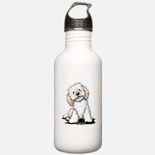 Smiling Doodle Puppy Water Bottle