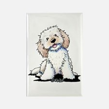 Smiling Doodle Puppy Rectangle Magnet