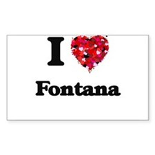 I love Fontana California Decal