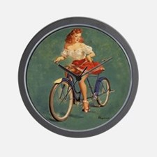 Elvgren ThisBicycleWoo47 RC Wall Clock