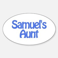 Samuel's Aunt Oval Decal