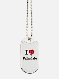 I love Palmdale California Dog Tags