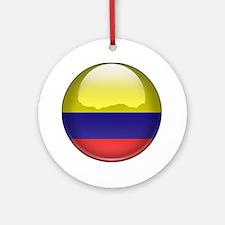 Columbia Flag Jewel Ornament (Round)