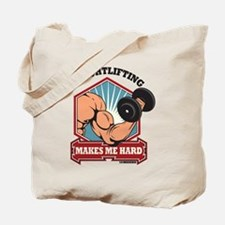 Weightlifting Makes Me Hard Tote Bag