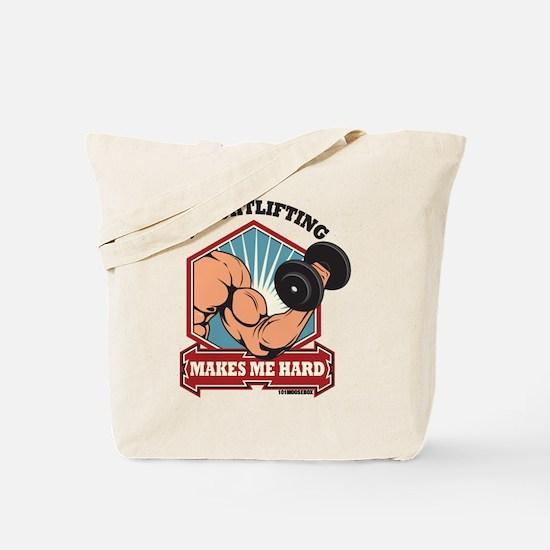 Weightlifting Makes Me Hard Tote Bag