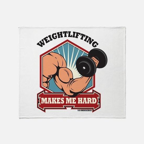 Weightlifting Makes Me Hard Throw Blanket