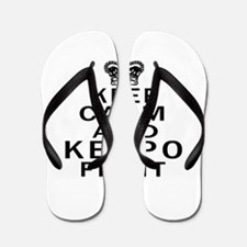 Keep Calm And Kenpo Fight Flip Flops