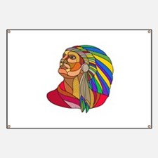 Native American Indian Chief Headdress Drawing Ban