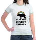 Chubby unicorn Jr. Ringer T-Shirt